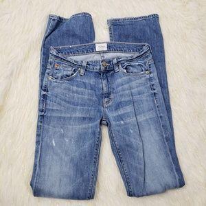 Hudson Jeans Midrise Elle Destressed Boot But